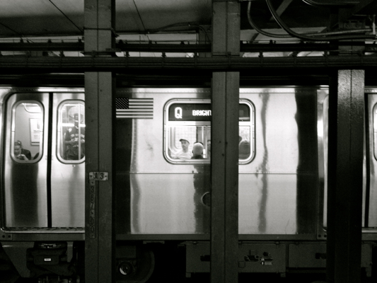 Subway: Q Train at 7th Avenue