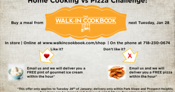 Home Cooking vs Pizza from the Walk-In Cookbook