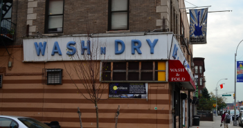 Wash n Dry Sign, Corner of 4th Ave and St Marks