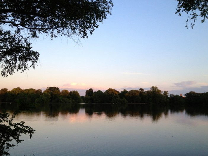 Sunset at Prospect Park Lake