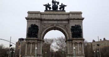Grand Army Plaza Arch in Winter
