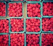 Raspberries at the Grand Army Plaza Greenmarket